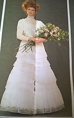 Laura Ashley vintage dress. Wedding dress SIZE 16 UK Made in Carno, Wales