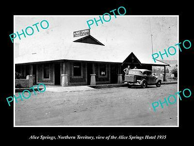 OLD LARGE HISTORIC PHOTO OF ALICE SPRINGS HOTEL, NORTHERY TERRITORY c1935