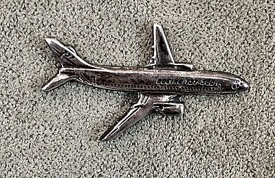 Sterling Silver Boeing 737-300 Airplane Tie Pin