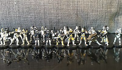 Star Wars Miniatures Various Clone Troopers Used Figure Lot - No Card