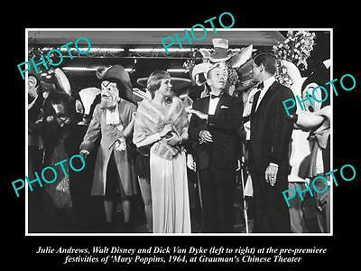 Old Historic Photo Of Walt Disney & Julie Andrews At Mary Poppins Premier 1964