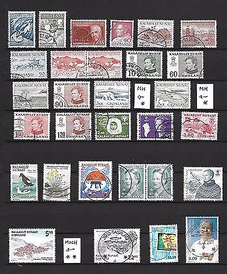 28 different stamps from Greenland