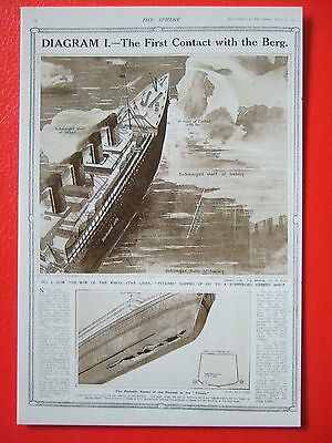 R M S Titanic Postcard -' The First Contact With The Berg