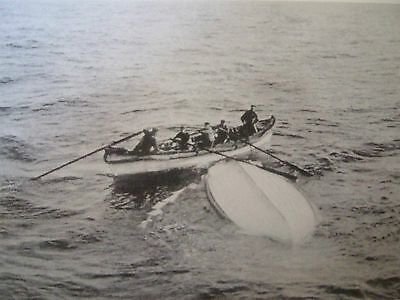 Titanic Postcard- An Overturned Lifeboat From The Titanic
