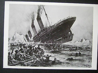 R M S Titanic Postcard - The Sinking Of The Titanic By Willy Stoewer