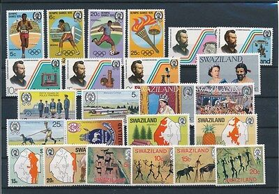 [G94907] Swaziland good lot Very Fine MNH stamps