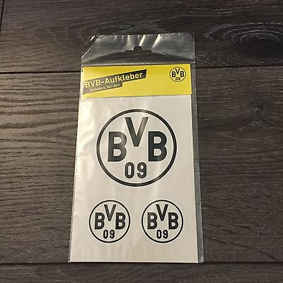 neu borussia dortmund bvb aufkleber schwarz 3er set auto aufkleber sticke eur 1 80. Black Bedroom Furniture Sets. Home Design Ideas