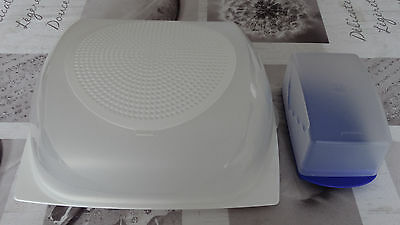Tupperware Grande Cave - Boite cloche à fromages - 3 à 6 fromages - TBE