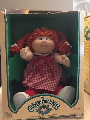 1984 Or 1985 Little Girl With Red Braided Hair Cabbage Patch Kid