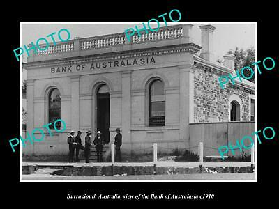 Old Large Historic Photo Of Burra South Australia, The Bank Of Australasia 1910