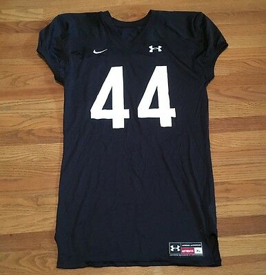 New Nike Under Armour Black Men's XL Practice Football Jersey Training #44