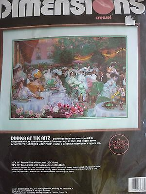 New Dimensions Dinner At The Ritz Crewel Large Needlework Kit