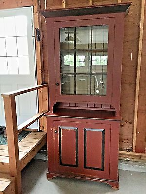 David T. Smith   CUSTOM  Ohio Stepback Cupboard ( Two pieces)