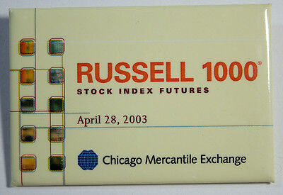 Chicago Mercantile Exchange Pin - RUSSELL 1000 Stock Index Futures April 2003