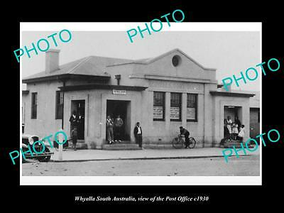 OLD LARGE HISTORIC PHOTO OF WHYALLA SOUTH AUSTRALIA, THE POST OFFICE c1930