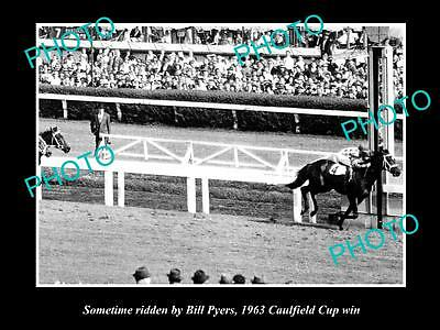 Old Large Horse Racing Photo Of Sometime Winning The 1963 Caulfield Cup, Pyers 3
