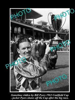 Old Large Horse Racing Photo Of Sometime Winning The 1963 Caulfield Cup, Pyers 1