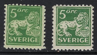 Sweden Scott 126 Type II Both Papers/ Facit143Ca+c SEK 210($24)