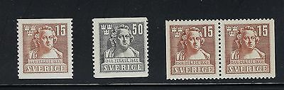Sweden Scott 313-315 MNH With Pair  Scott $ 73.00