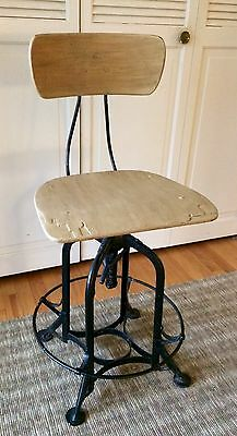 Vintage Toledo Drafting Stool Industrial chair Steampunk UHL