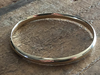 Women's 14KT YELLOW GOLD High Polished Bangle Bracelet 7MM