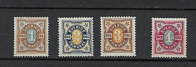 Sweden Scott 52-55 MNH /Facit 61-64 SEK 220 ($25)