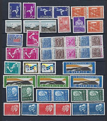 Sweden Year 1967 MNH With Pairs  Scott $ 27.30  Facit SEK339($39)