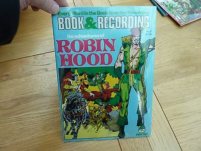 1970s BOOK AND RECORDING NEW SEALED ROBIN HOOD COMIC & 7 INCH VINYL