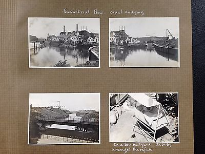 4 original photos captioned Industrial BOW canal dredging , Poplar London