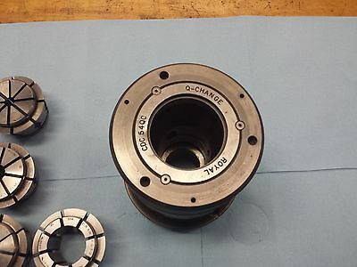 Royal Crawford CDC 54 QC A2-6 CNC Collet Chuck with Collets