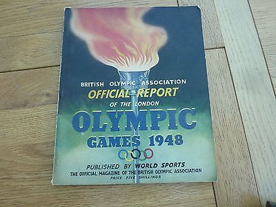 1948 Original Official Report On London Olympic Games Softback Book