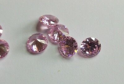 5mm Pink Cubic Zirconia Round Cut Loose Gemstone AAAAA lot of 10 stones