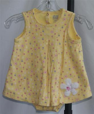 TODDLER GIRLS CARTER'S CHILD OF MINE 1 pc Yellow Floral Playsuit Size 18 Months