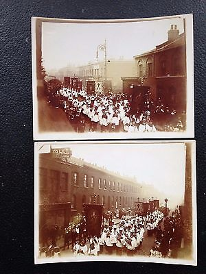 2 original photos of St Leonards Road , POPLAR East London sharp and rare