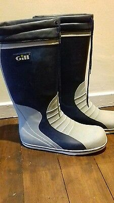 Gill sailing wellies boots uk size 9.5