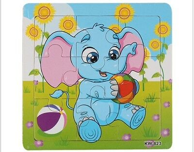 Hot 2017 Wooden Elephant Jigsaw Toys For Kids Education And Learning Puzzles Toy