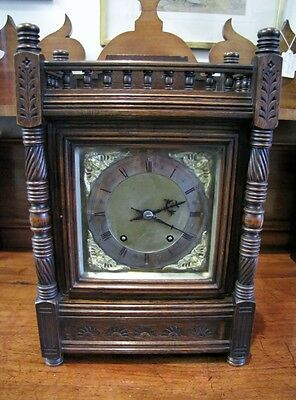 Winterhalder & Hofmeier Oak Cased Ting Tang  Mantel Clock