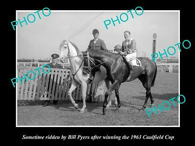 Old Large Horse Racing Photo Of Sometime Winning The 1963 Caulfield Cup, Pyers 2