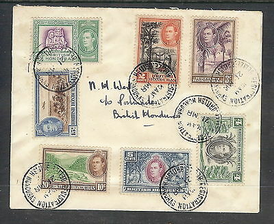 British Honduras Cover with Short Set to 15c of 1938 - 47  issue