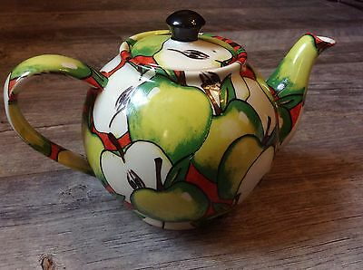 PAUL CARDEW of ENGLAND Teapot Apple GraphicThemed 4-cup Ceramic VINTAGE