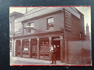 Original London PUB photo of The Woodman BATTERSEA  c. 1900