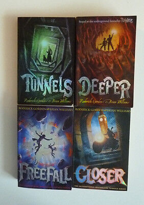 Books 1 - 4 From The Tunnels Series - Roderick Gordon & Brian Williams