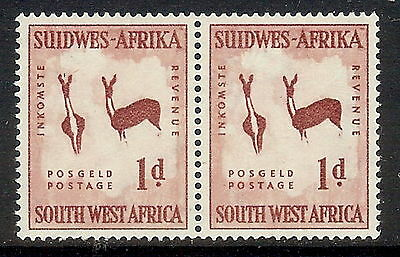 SWA 1954 1d with Wmk horns to right. SG 154w. MNH