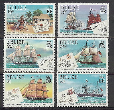 Belize 1985 Post Office Anniversary Set. SG 846 - 851. MNH
