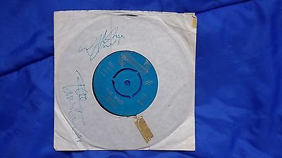 THE WHO - Record Sleeve - Pete Townshend  / John Entwistle - Autographs 1960s !!
