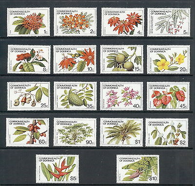 Dominica 1981 Plant Life Set of 18. SG 764A - 781A. MNH