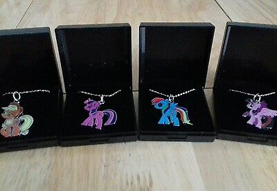 Job Lot Of 4  NEW MY LITTLE PONY NECKLACES  Gift Boxed Necklaces New