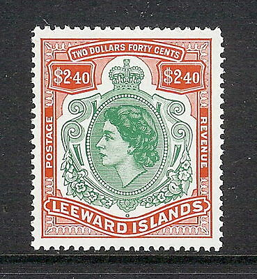 Leeward Islands 1954 $2.40 Bluish Green & Red. SG 139.  MNH