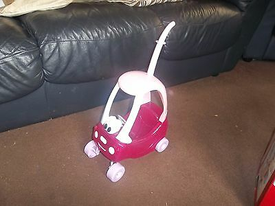 Little Tikes Pink Push along Dolls Coupe Car