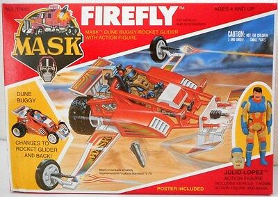 Mask Kenner - M.a.s.k Firefly Et Julio Lopez Neuf Action Figure Vintage